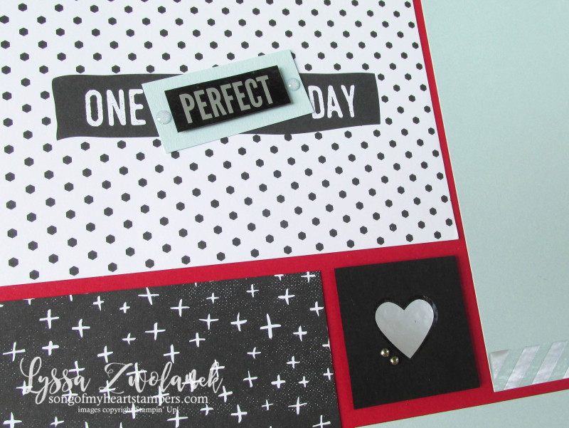 Perfect Days memories more stampin up 31 pages days Lyssa scrapbooking layout traditional scrapbook