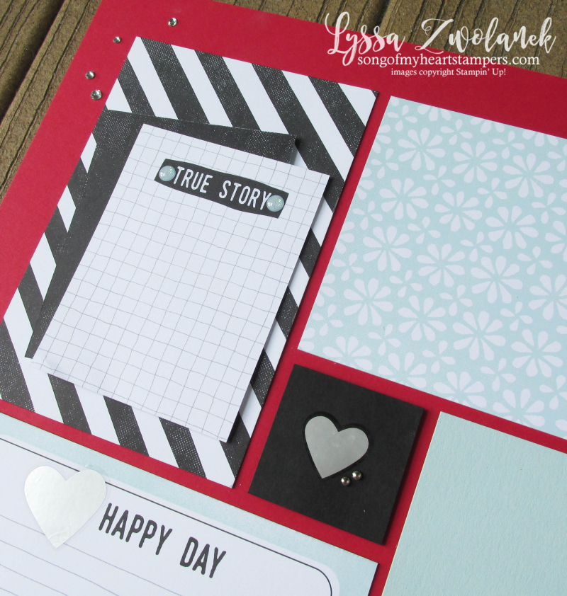 Perfect Days memories more stampin up Lyssa scrapbooking layout traditional scrapbook