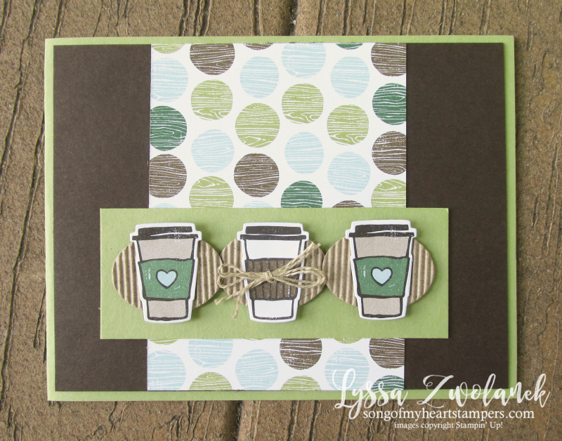 Coffee Break Class Month Song of My Heart Stampers stampin sizzix to go cafe Lyssa