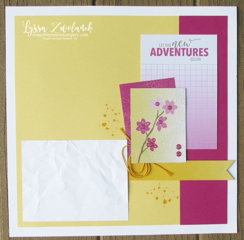 Memories more pocket traditional stampin up card scrapbook layout Lyssa pages 31