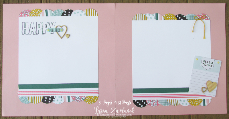 31 days pages happy together stampin up layout scrapbooking summer school album Lyssa