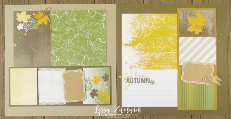 Autumn Leaves Color Theory Memories More Stampin Up scrapbooking fall 31 pages days scrapbook Lyssa