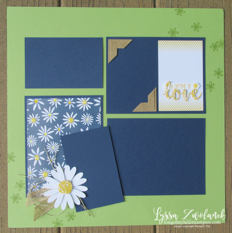 Daisy Lifetime Love scrapbooking summer school punch 31 pages days Lyssa Stampin Up