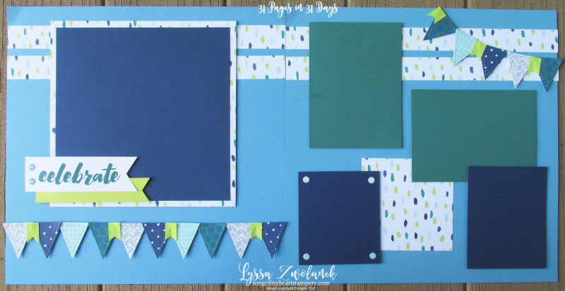 Quilt Builder Dies Stampin Up scrapbooking layouts Lyssa traditional scrapbook