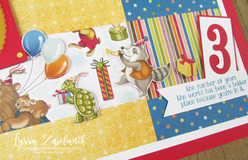 Birthday Memories party animals Richard Scary scrapbook pages days layout 31 stampin up