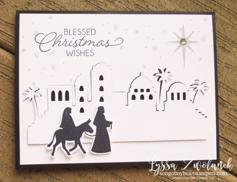 Night in Bethlehem bundle edgelits sizzix stamp set Stampin Up Lyssa Christmas Club holiday cards DIY
