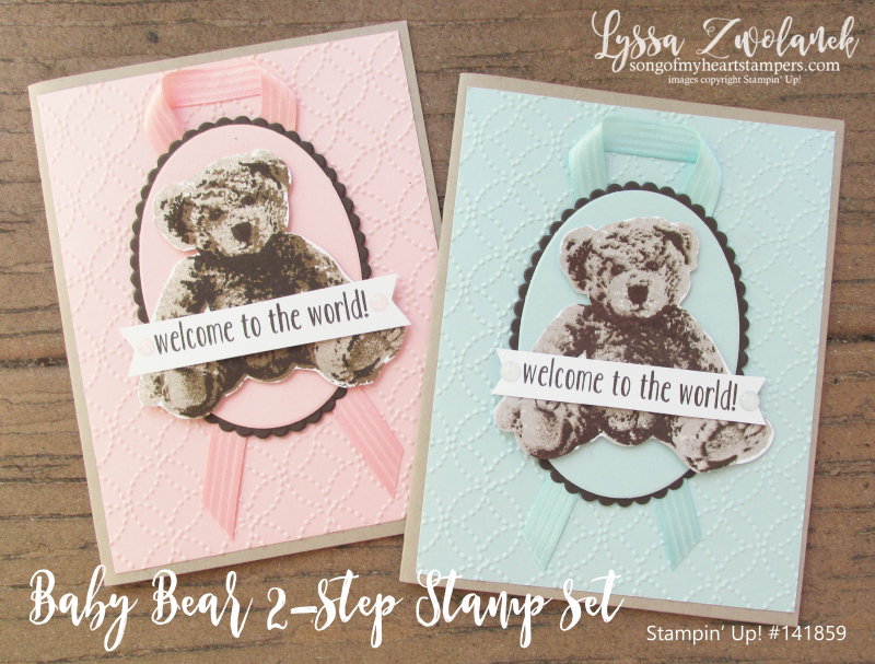 Baby Bear two step photorealistic bears teddy DIY cardmaking Stampin Up