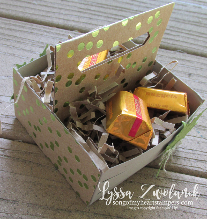 Wood Crate double treat holder Sizzix Stampin Up Lyssa wooden kraft thinlets dies