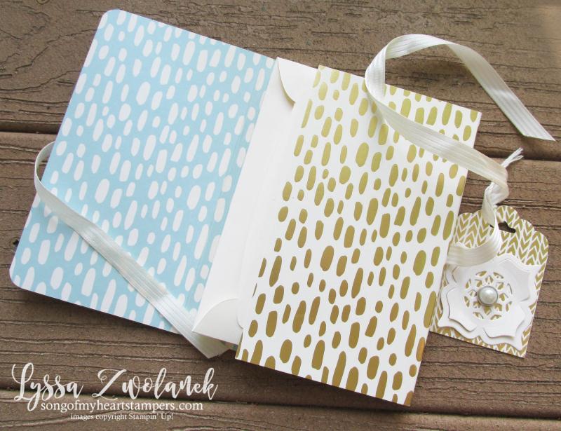 Envelope Pocket Stationery Holder notecards Lyssa Up Stampin convention DIY cardmaking