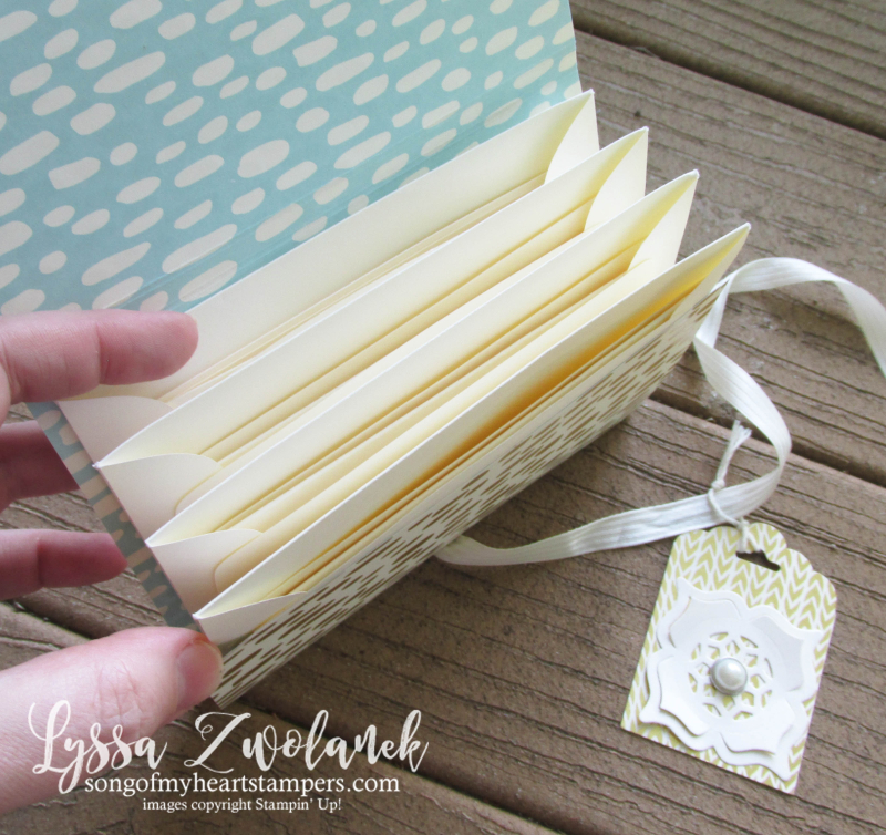 Envelope Pocket Stationery Holder notecards Lyssa Stampin Up convention DIY cardmaking tutorials
