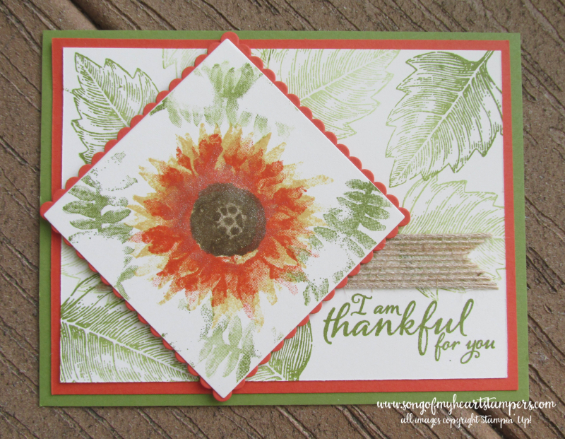 Fall Autumn DIY cards cardmaking Stampin Up sunflower techniques rubber stamps