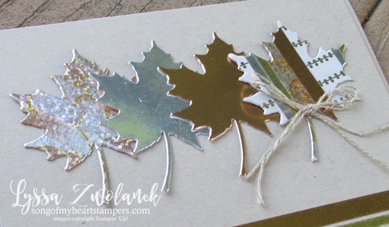 Metallic Washi Tape Autumn Leaves Leaf stampin up thanksgiving Lyssa fall card stamps