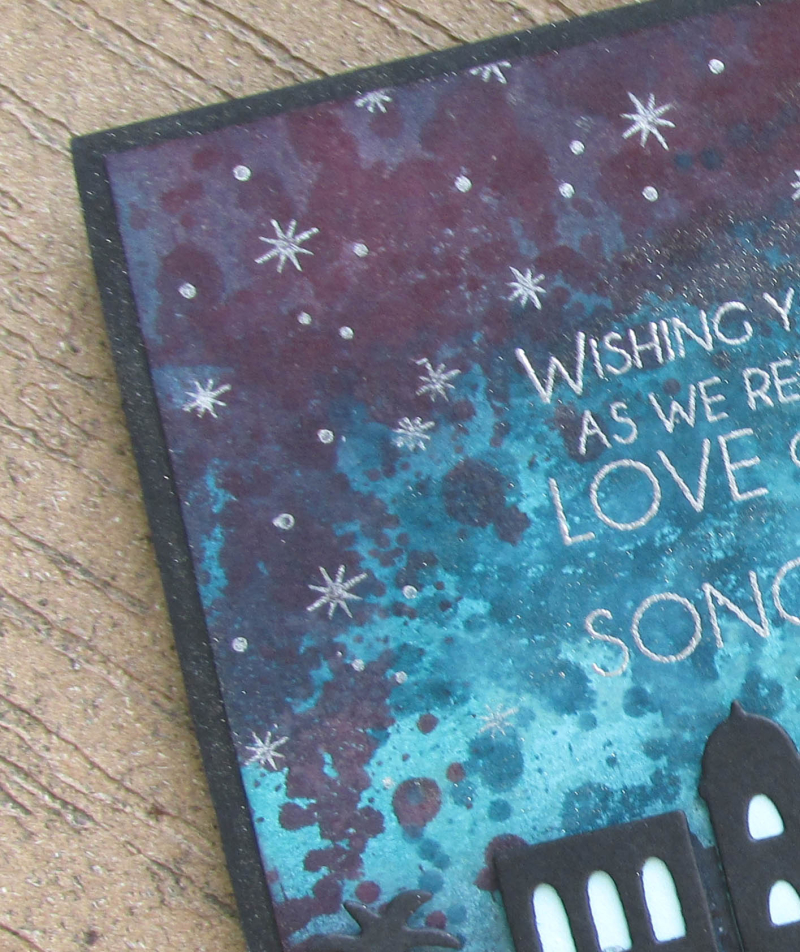 Night Bethlehem Stampin Up framelits thinlets Song Music Christmas holiday card technique Lyssa