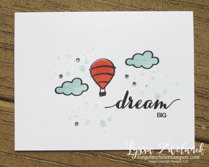 Dare to Dream adventure awaits dream big hot air balloon hostess exclusive stamp set Stampin Up