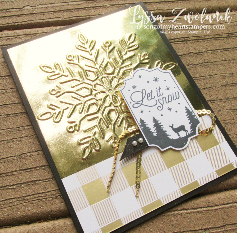 Winter Wonder snowflake embossing folder Christmas Stampin Up holiday cards snow gold year cheer