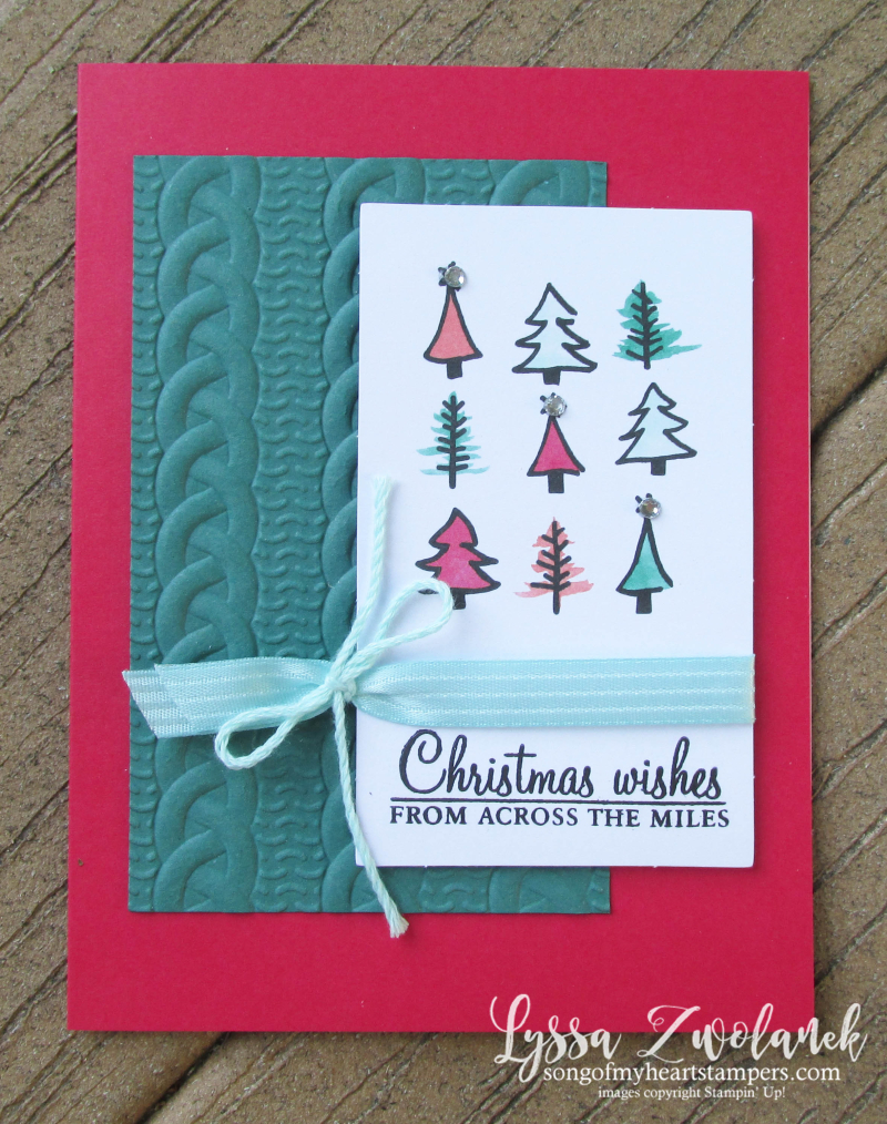 Watercolor Christmas Project Kit Christmas holiday stampin up card Lyssa alternate ideas