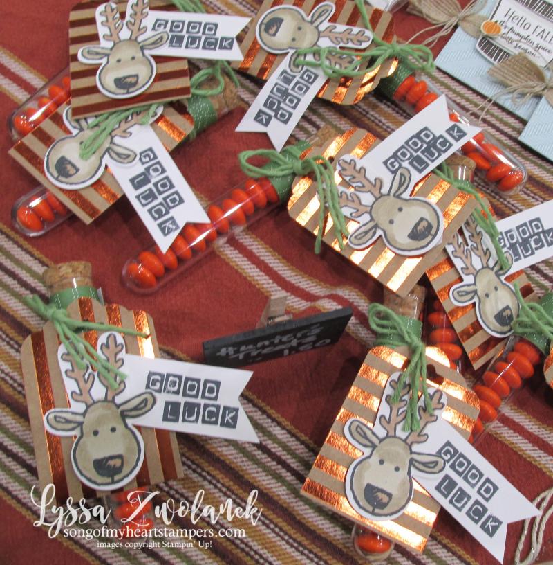 Craft fair display best sellers Stampin Up Lyssa show hunter hunting widows weekend vendor 1