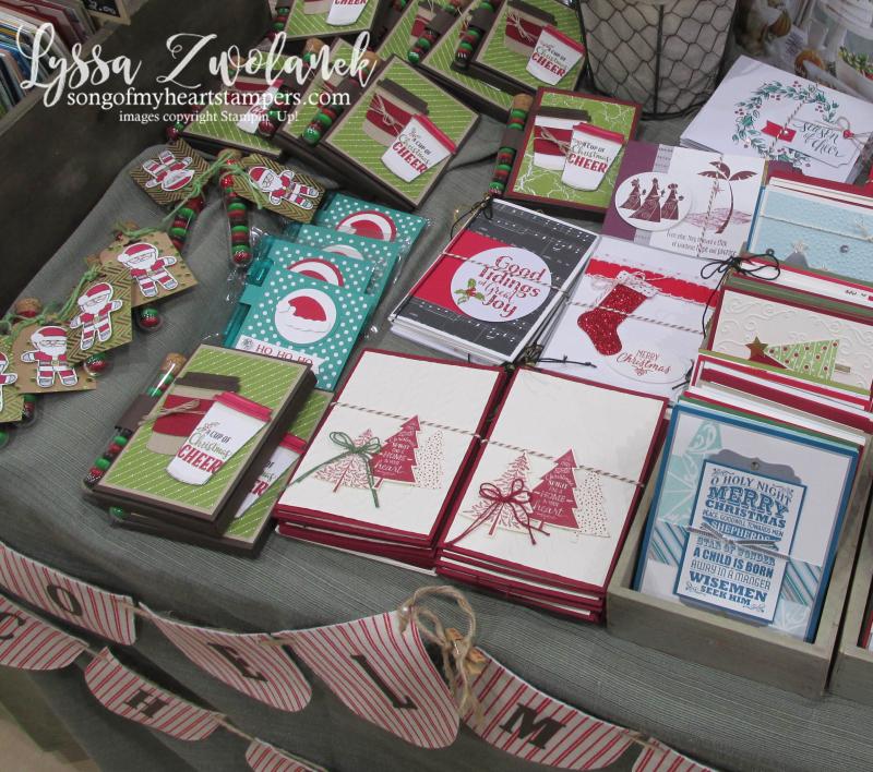 Craft fair display best sellers Stampin Up Lyssa show vendor 2