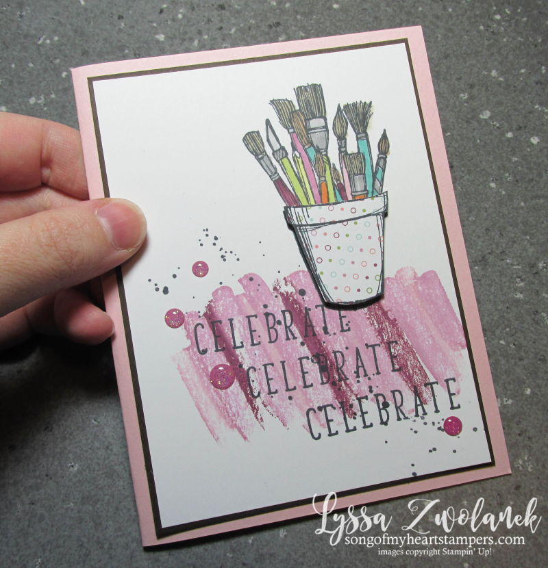 Acetate Transfer Technique tutorial Lyssa Stampin Up Stamping blends markers alcohol based background 4