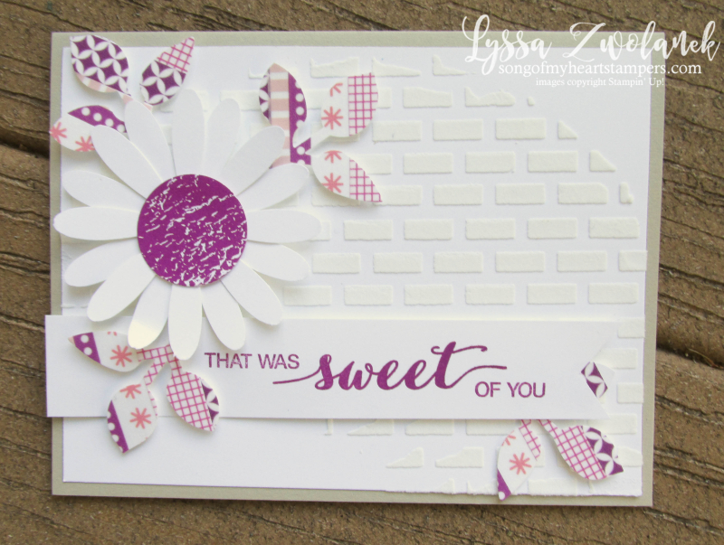 Berry Burst embossing paste Daisy Punch Stampin Up leaves washi tape pink sweet cards Dare to Dream