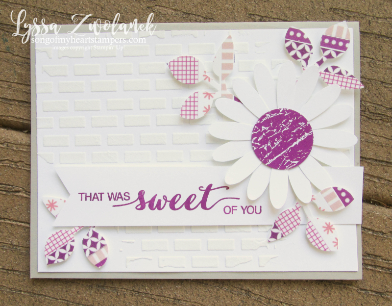 Berry Burst embossing paste Daisy Punch Stampin Up leaves washi tape pink sweet calico card Dare to Dream