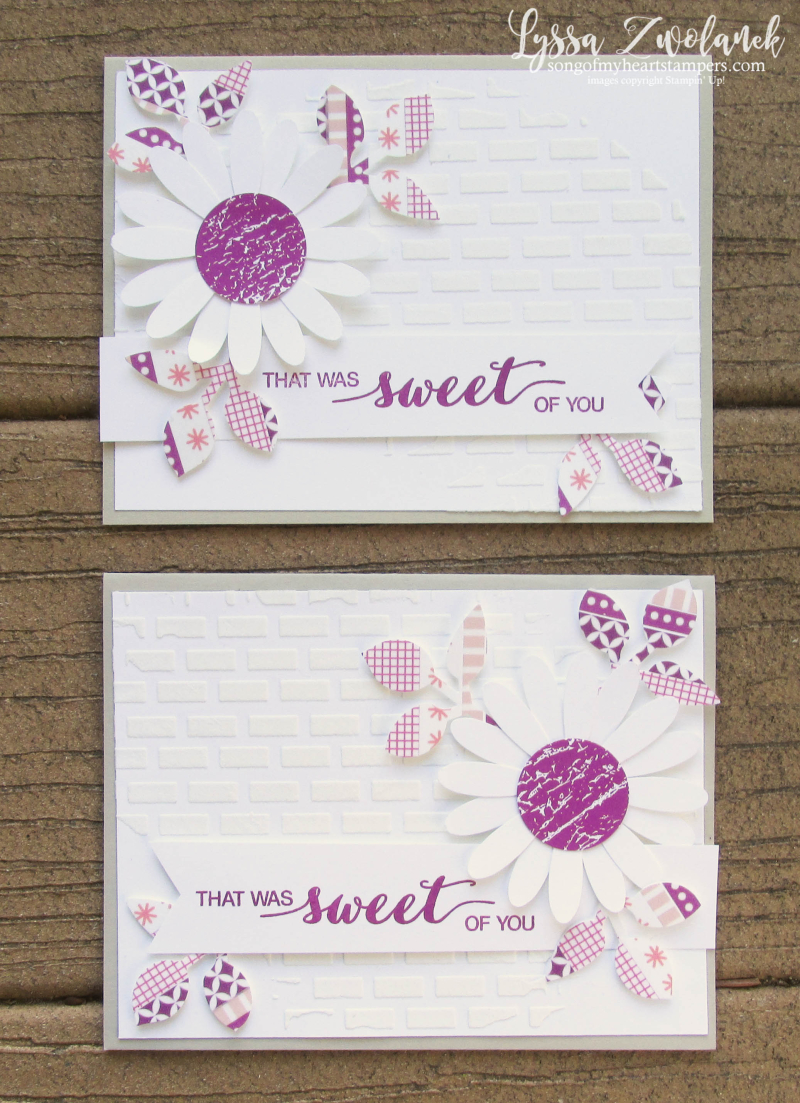 Berry Burst embossing paste Daisy Punch Stampin Up leaves washi tape pink sweet card Dare to Dream