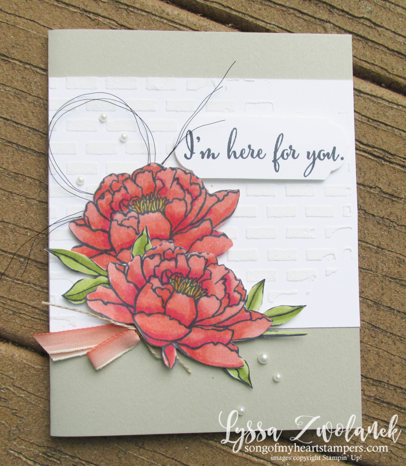 Stampin Blends You Got This card ideas Up peonies rose embossing paste alcohol markers