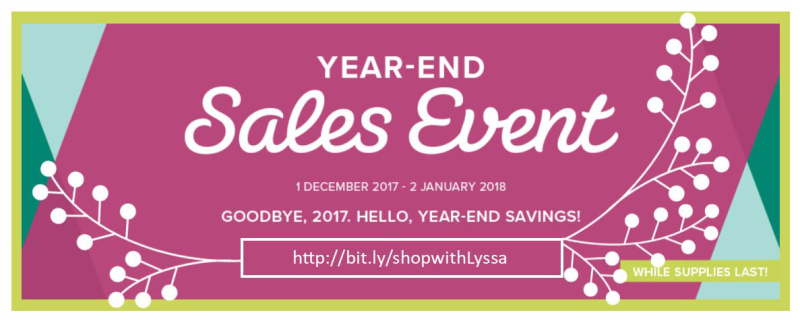 Year End Stampin Up sale Shop with Lyssa