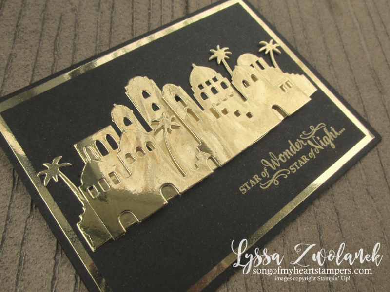Bethlehem Edgelits thinlets night skyline stars Stampin Up christmas stamps Shop Lyssa