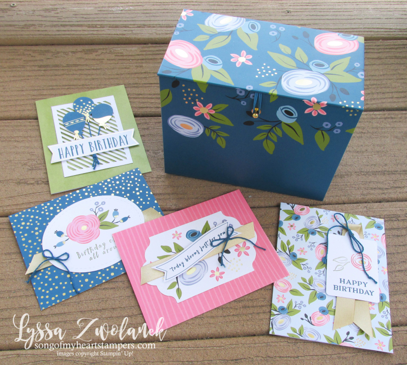 Perennial Birthday card box stationery set project kit Stampin Up cards gift Lyssa