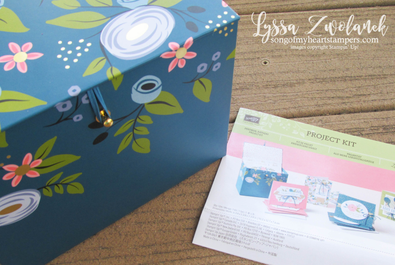 Perennial Birthday card box stationery set project kit Stampin Up cards instructions Lyssa