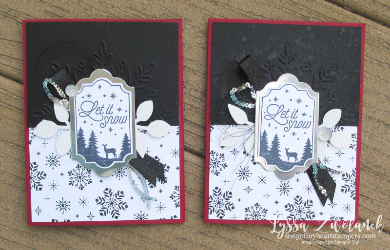 Merry Little Labels everyday label punch stampin up snowflake deer let it snow stamps jpg