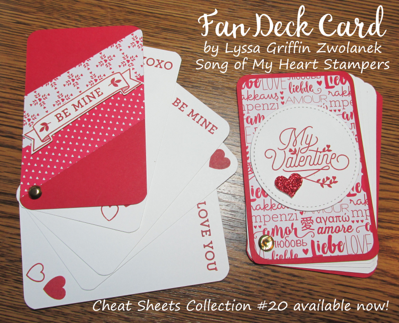 Fan deck Card Valentine Day valentines projects Stampin Up Lyssa Zwolanek hearts tutorial Cheat Sheets Collection 20