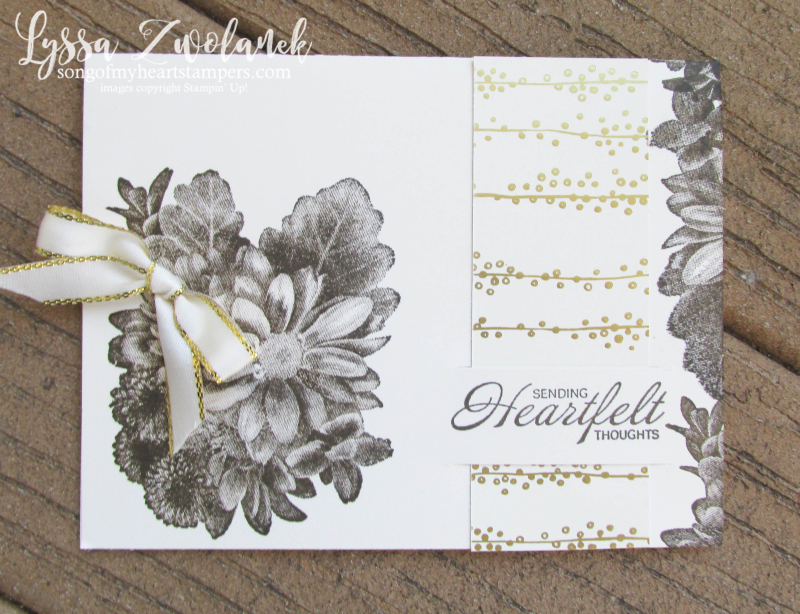 Paper slit technique background papers patterned tutorial Lyssa Heartfelt Thoughts Stampin Up