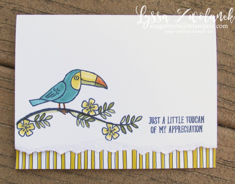 Bird Banter card stamps birds stampin up rubber clear Lyssa funny tropical parrot
