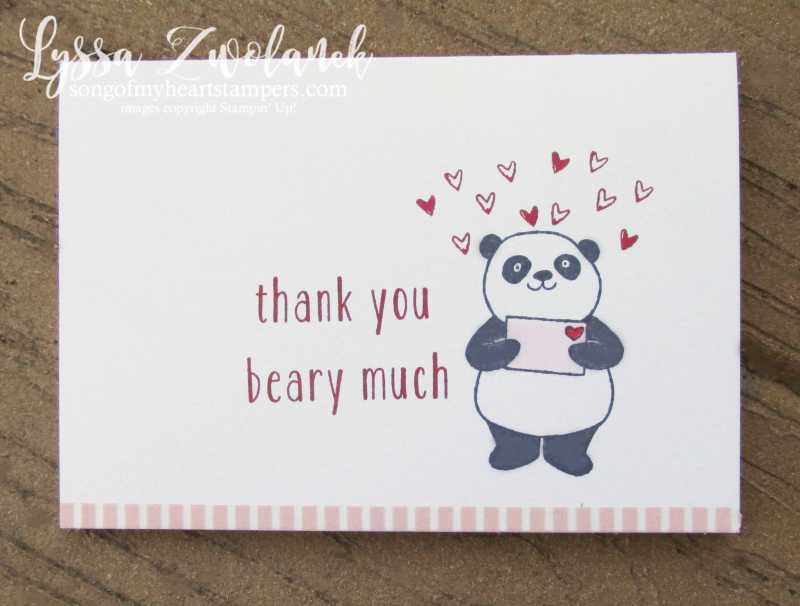 Party Pandas panda stamp set Stampin Up Shop Lyssa valentines saleabration SAB 2018