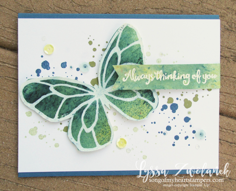Beautiful Day butterfly brusho crystal color Stampin Up spatter technique spring catalog rose watercolor