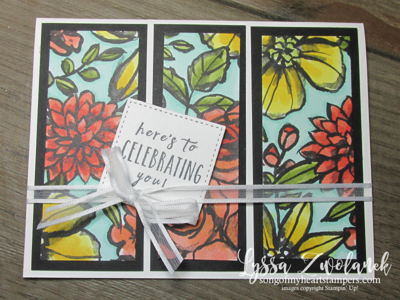 Petal Passion black white coloring Stampin Up alcohol Blends tropical flowers stamps