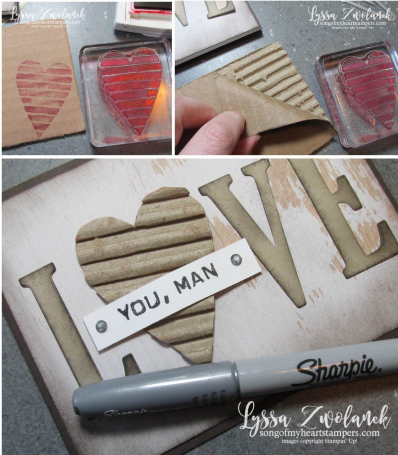 Cardboard collage valentine masculine cards ideas stampin up love large letters
