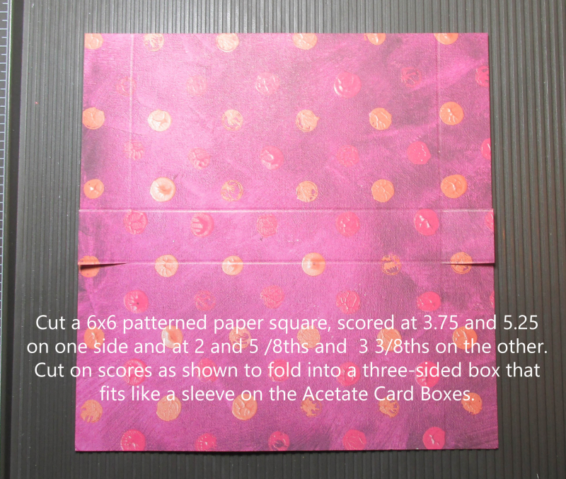 Acetate card box sleeve Stampin Up boxes tutorials cardmaking DIY rubber stamps