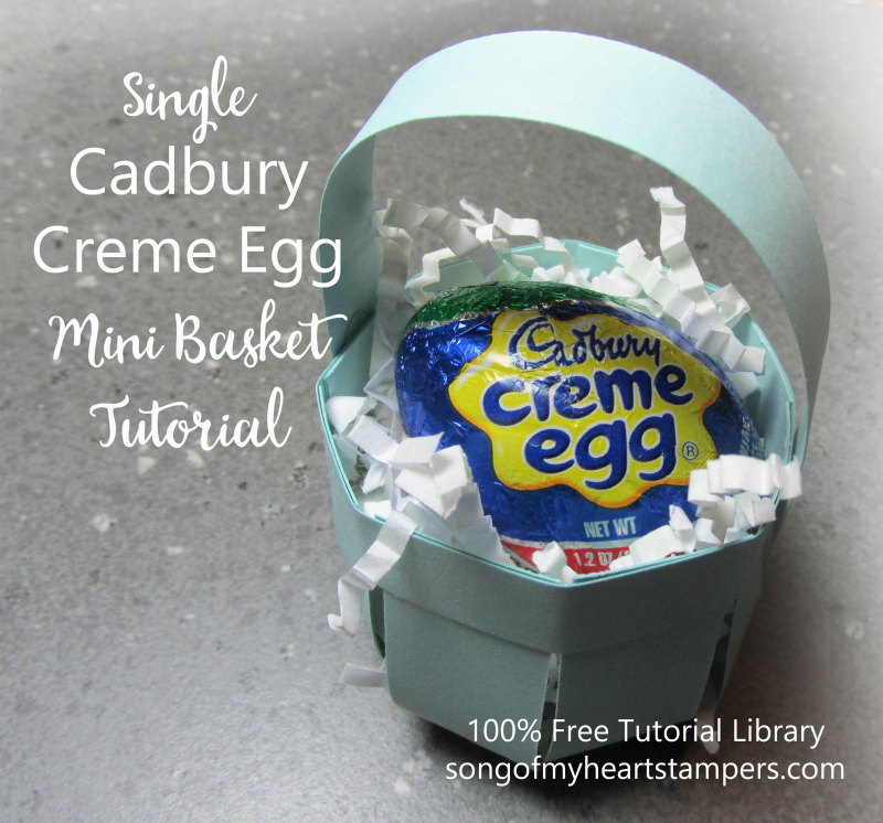 Cadbury egg mini basket creme tutorial paper box free Stampinup