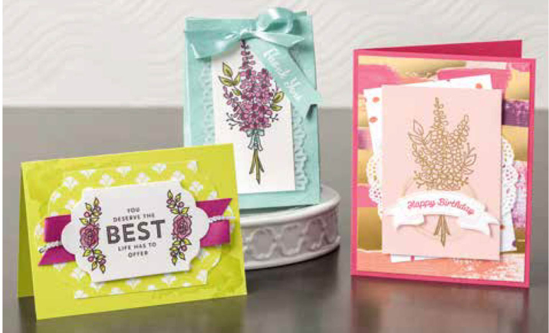 Lavender samples stampin up saleabration SAB 2018