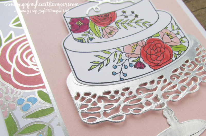 Sweet Soiree stampin up shop now scrapbooking rubber stamping 12x12 papers cake stand wedding DIY cardmaking