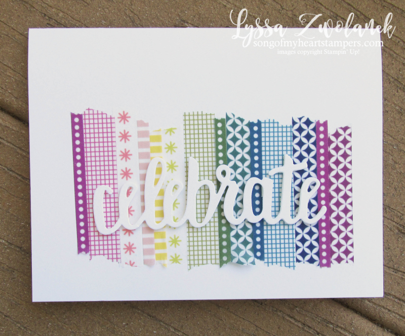 Rainbow washit tape celebrate you thinlets SAB 2018 saleabration free big shot accessories Lyssa Stampin Up Sizzix