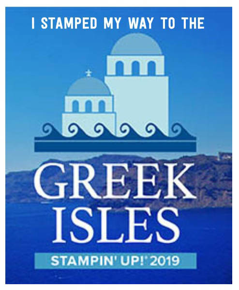 Greek Isles stampin up 2019 incentive trip acheiver