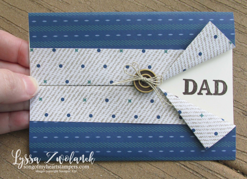 Dapper Dad truly tailored gentleman classic masculine guy cards stampin up