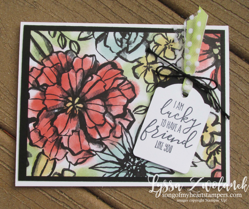 Petal Palette sponge daubers black and white coloring papers adult stampin up hibiscus DIY cardmaking