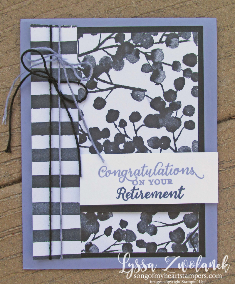 Wild about flowers retirement party cards petal palette wildflower stamps stampin up