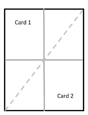 Diagonal front fold card sketch