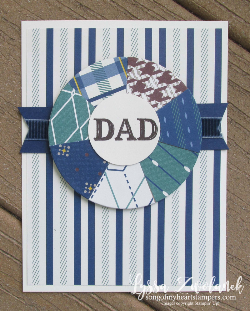 Dapper Dad truly tailored gentleman classic masculine guy septagon heptagon stampin up